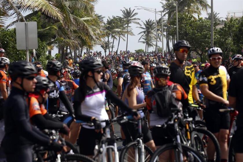 El evento de ciclismo puertorriqueño Med Bike Rally se celebrará el próximo 4 de marzo sin coste de inscripciones debido a los estragos provocados por el huracán María que devastó la isla caribeña el pasado mes de septiembre. EFE/Archivo