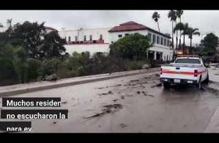Avalanchas de lodo causan destrucción en Montecito