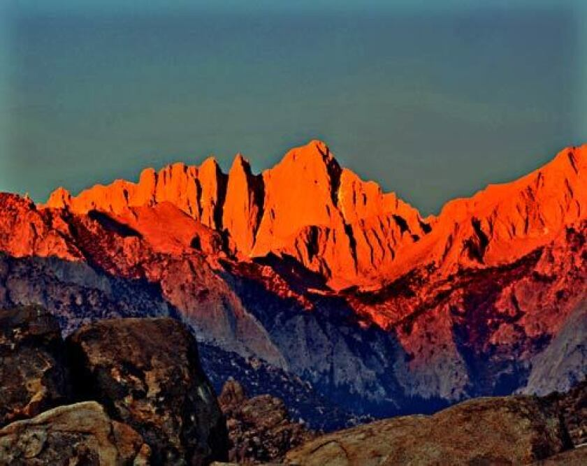 The highest point in the lower 48 is Mt. Whitney at 14,494 feet in elevation.