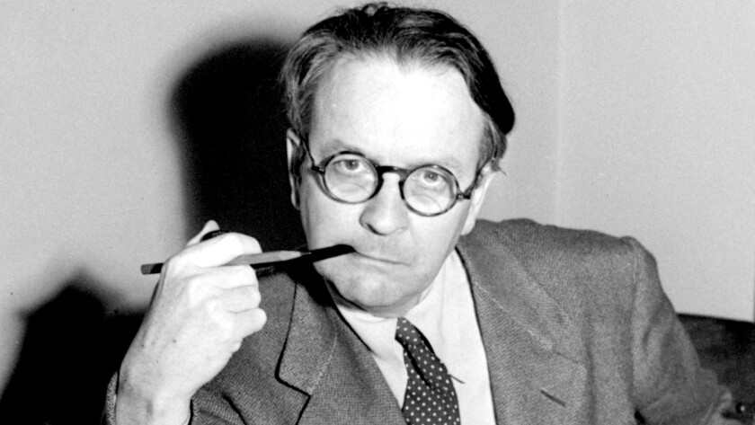 "Mystery novelist and screenwriter Raymond Chandler, shown in a 1946 portrait, created private eye Philip Marlowe in the novels ""The Big Sleep,"" ""Farewell My Lovely,"" and ""The Long Goodbye."""