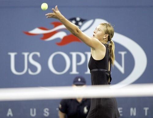 Number 3 seed Maria Sharapova of Russia