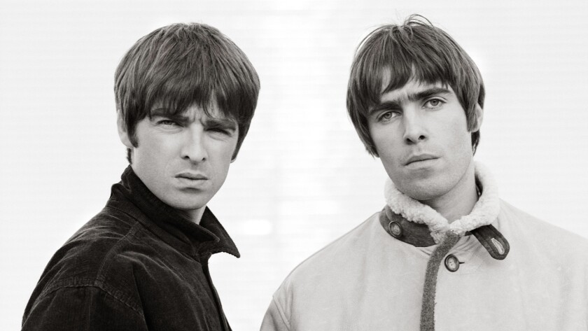 """Noel, left, and Liam Gallagher in the documentary """"Oasis: Supersonic."""""""