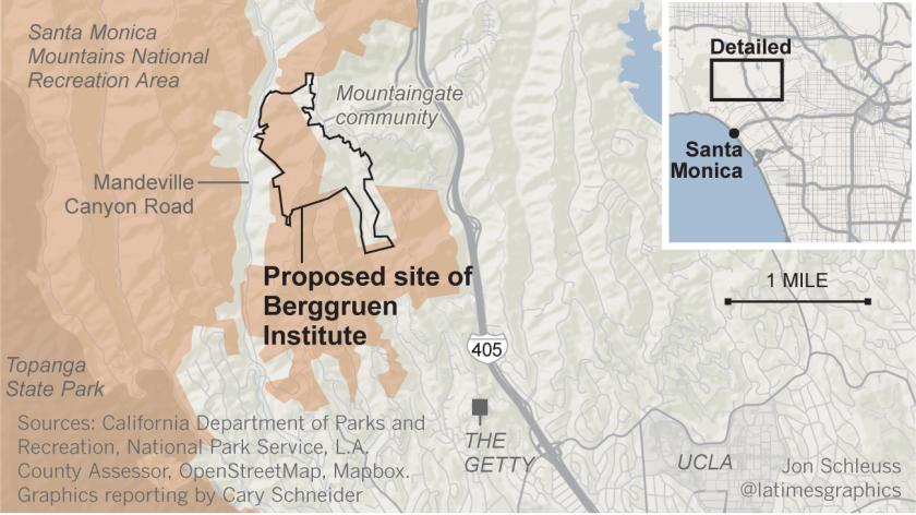Map of Nicolas Berggruen's proposed site for his think tank