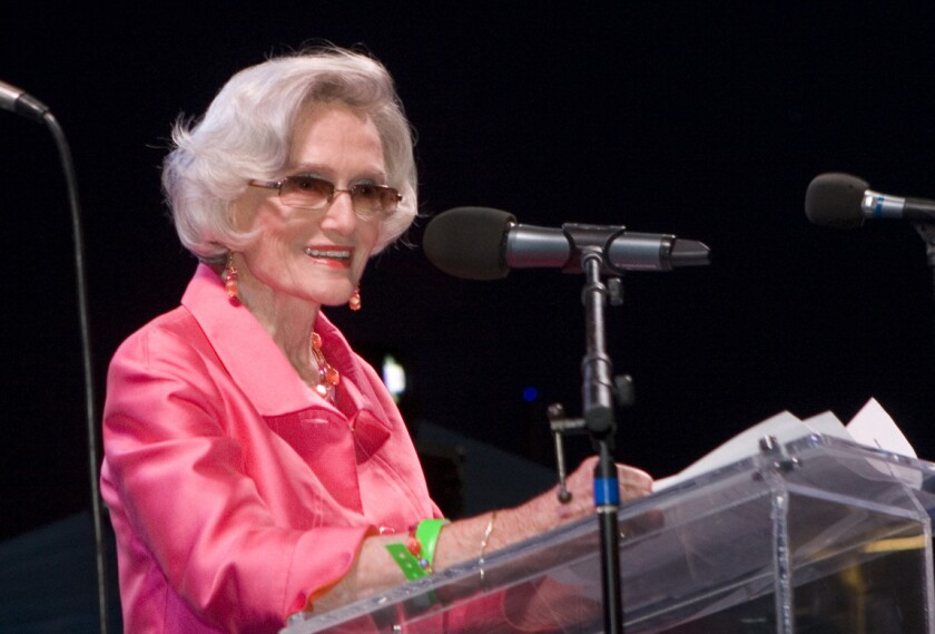 Marian Bergeson, the first woman to serve in both the state Senate and Assembly, also served as state secretary of education and on the Orange County Board of Supervisors and Newport-Mesa school board.