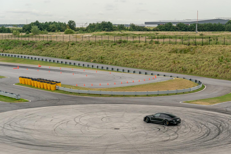 Porsche Taycan takes the twisties on Atlanta track