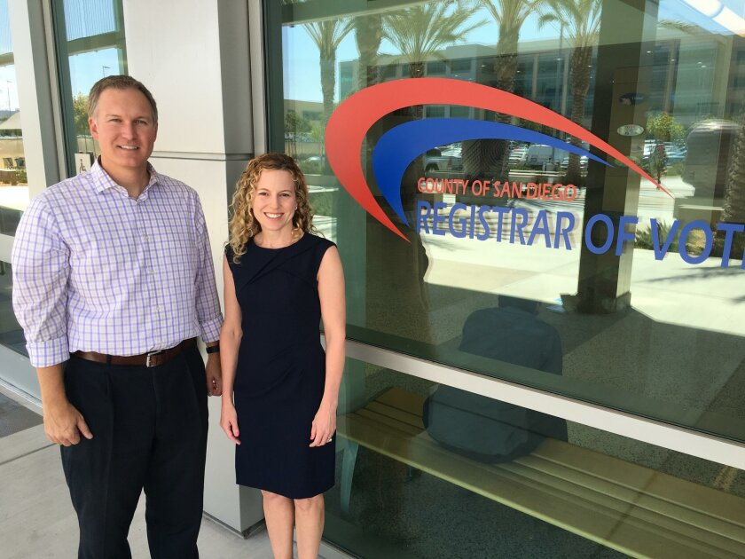 DMUSD incumbents Darren Gretler and Erica Halpern.