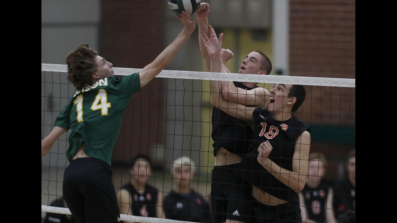 Photo Gallery: Huntington Beach vs. Edison in boys' volleyball