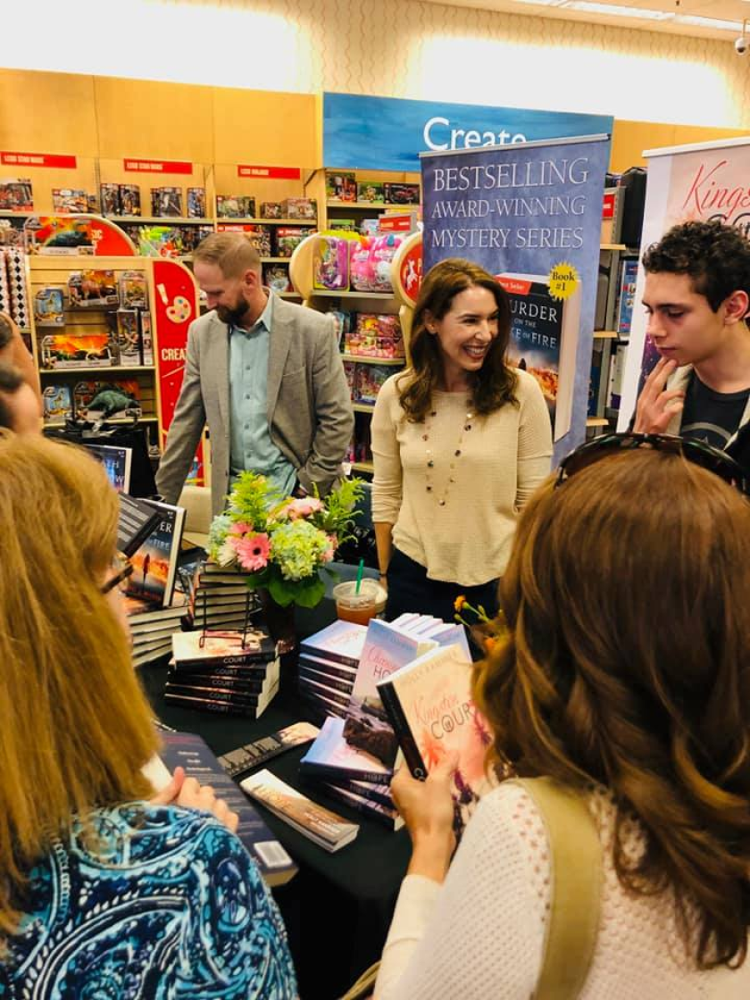Holly Kammier (center) at a previous Barnes & Noble book signing.