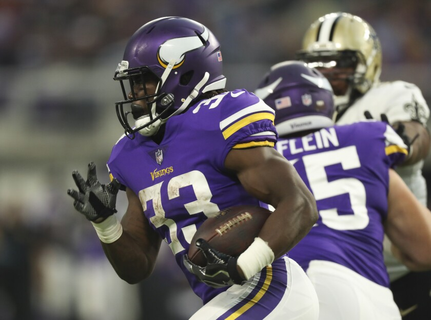 Minnesota Vikings running back Dalvin Cook (33) could be a Top 5 overall performer in fantasy football. His current average draft position in 19.