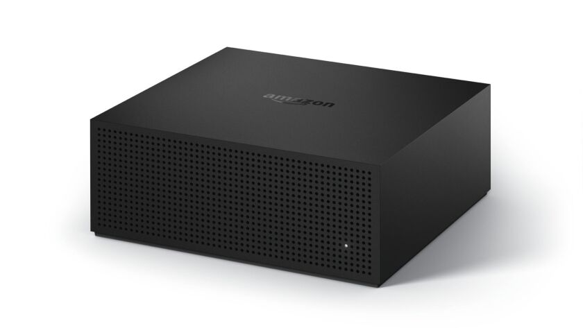 This undated photo provided by Amazon.com, Inc. shows a Fire TV Recast. The Fire TV Recast starts at