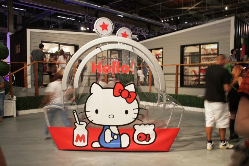 Hello Kitty oversized replica coin purse at Kitty Con