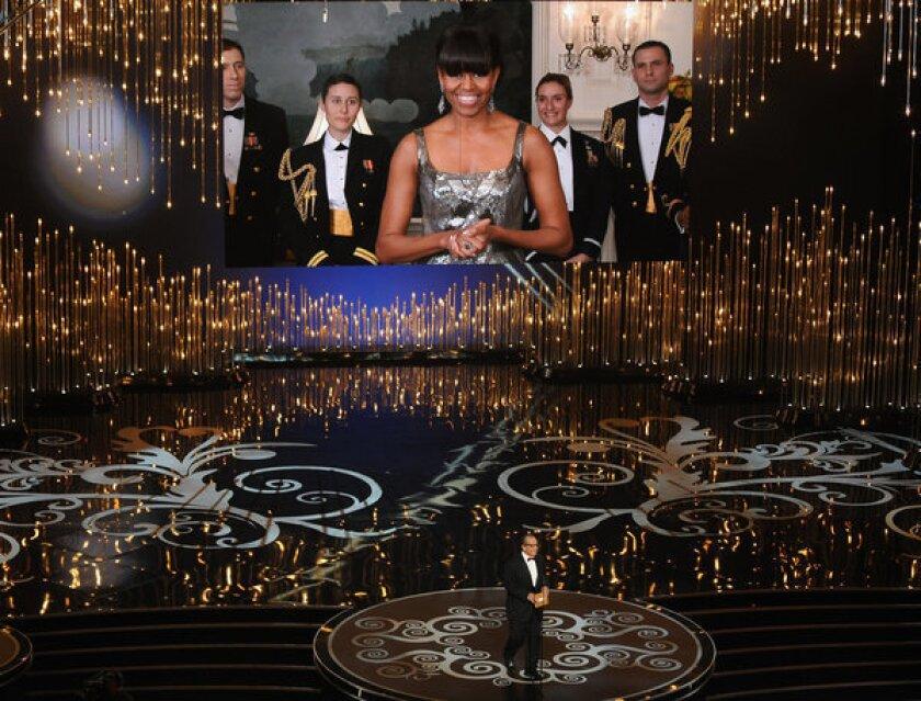 Oscars 2013: FLOTUS Michelle Obama announces best picture