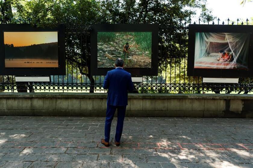 """Vista de las exposiciones """"Un estudio propio. Mujeres en el arte"""" y """"Desde Nosotras"""" inauguradas este martes en las Rejas del Bosque de Chapultepec, en Ciudad de México (México). EFE"""