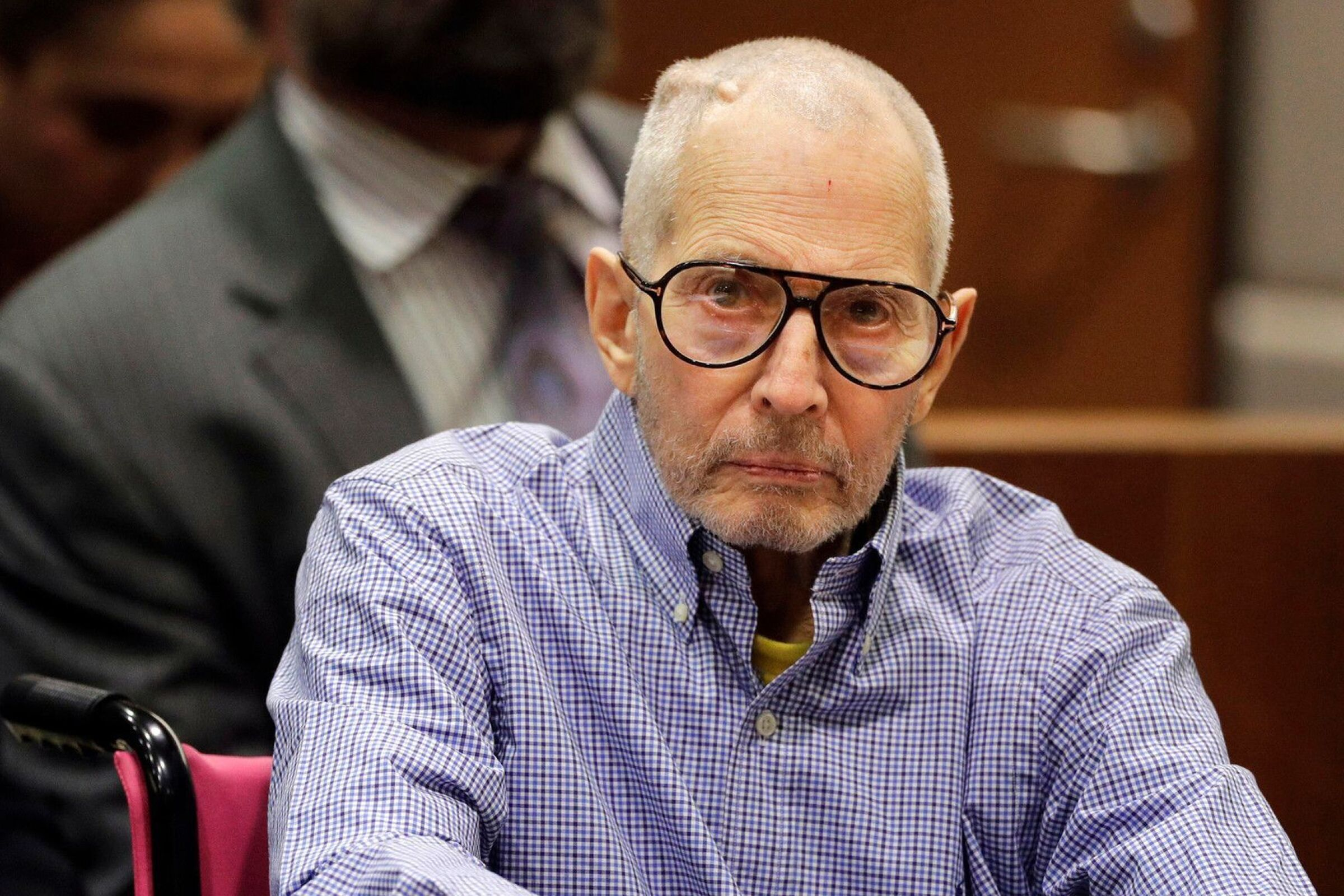 Real estate heir Robert Durst at a 2016 court hearing in L.A.