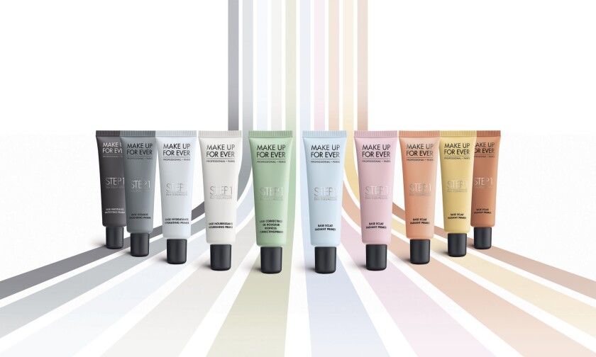 Make Up For Ever's new line of Step 1 primers.