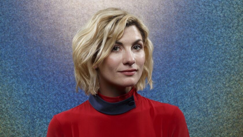 "SAN DIEGO, CALIF. -- JULY 21, 2018-- Jodie Whittaker from the television series ""Doctor Who,"" photog"