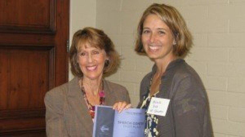 (L-R) Gwen Mecklenburg and Michelle Balk.