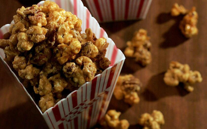 Does it get any better than caramel corn? It's the sort of stuff that turns even sophisticated adults into greedy kids. Recipe: Caramel corn