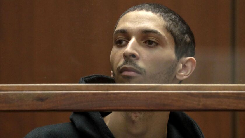 Tyler Raj Barriss appears for an extradition hearing at Los Angeles Criminal courts.