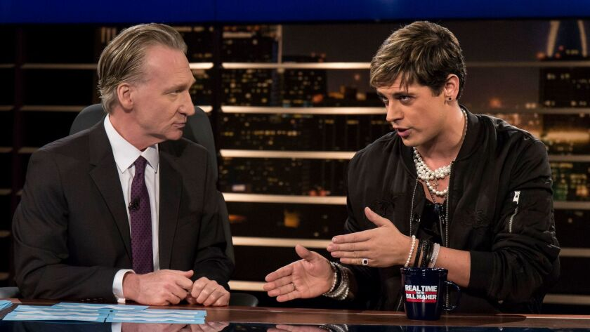 Bill Maher, Milo Yiannopoulos