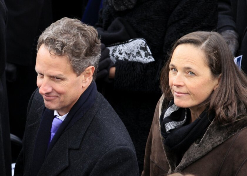 Ex-Treasury Secretary Geithner's new job: fellow at N.Y. think tank