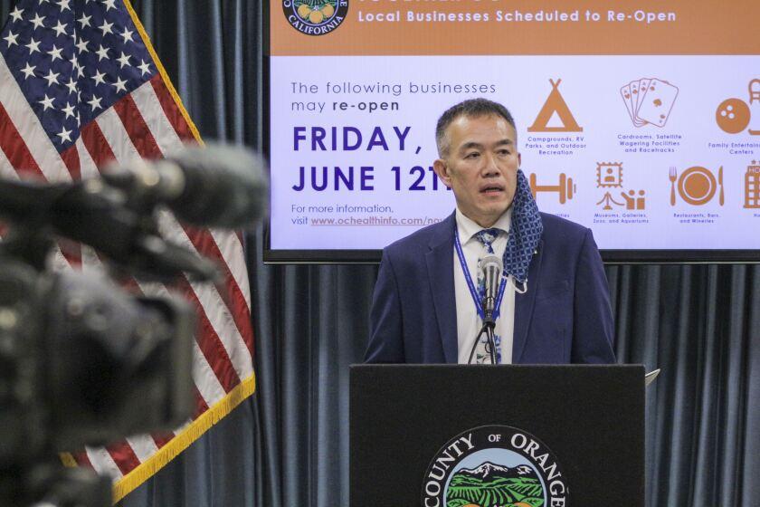 Orange County's interim health officer, Dr. Clayton Chau