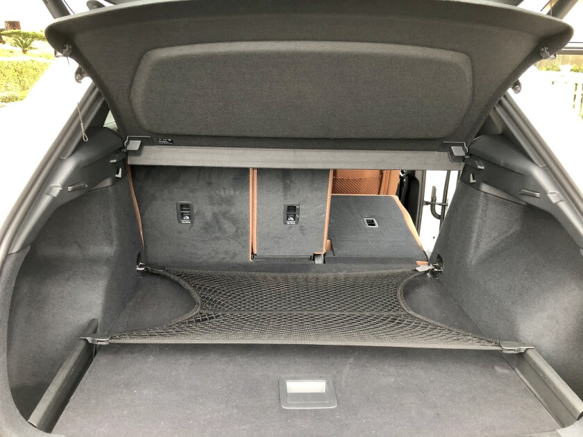 The cargo opening is wide at 44 inches with 3 feet of length to the seatback or about 5½ feet with the 60/40 seat folded.