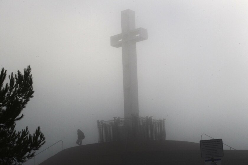 The cross on Mt. Soledad. U-T file photo.