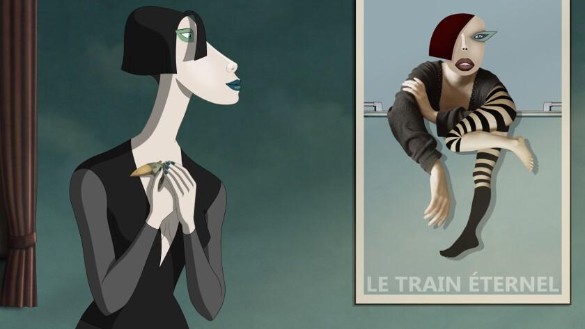 "Mimi, voiced by Gabriella H?mori in a scene from ""Ruben Brandt, Collector."" Credit: Ruben Brandt LLC"