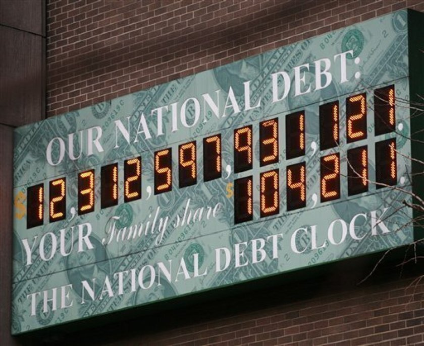 This is a 2010 photo of the National Debt Clock in New York City.