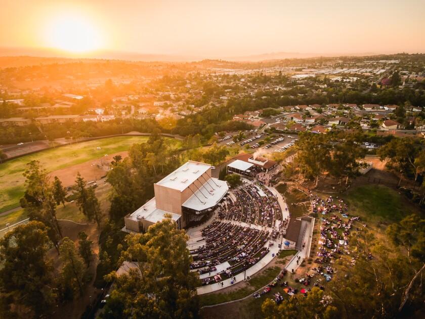 Vista's Moonlight Amphitheatre will host a four-show 2021 summer season beginning June 16.