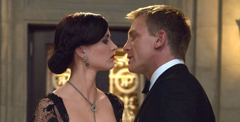 """Eva Green and Daniel Craig star in the Metro¿Goldwyn¿Mayer and Columbia Pictures' action adventure James Bond movie """"Casino Royale."""""""