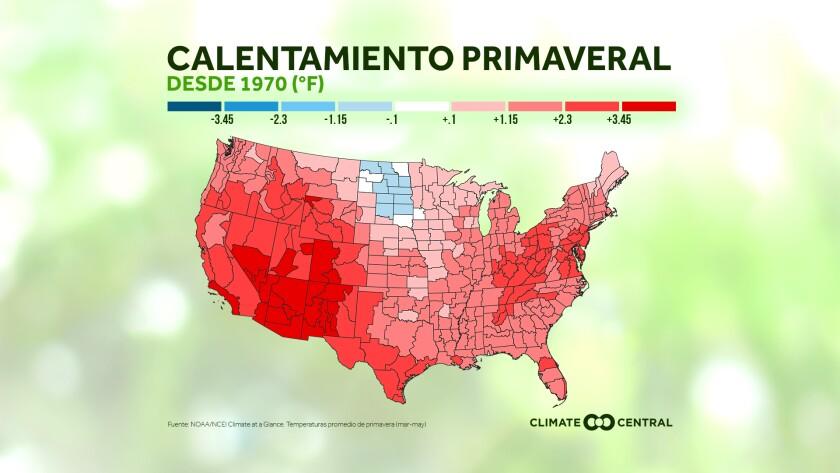 Ya vivimos el calentamiento de la primavera en Estados Unidos
