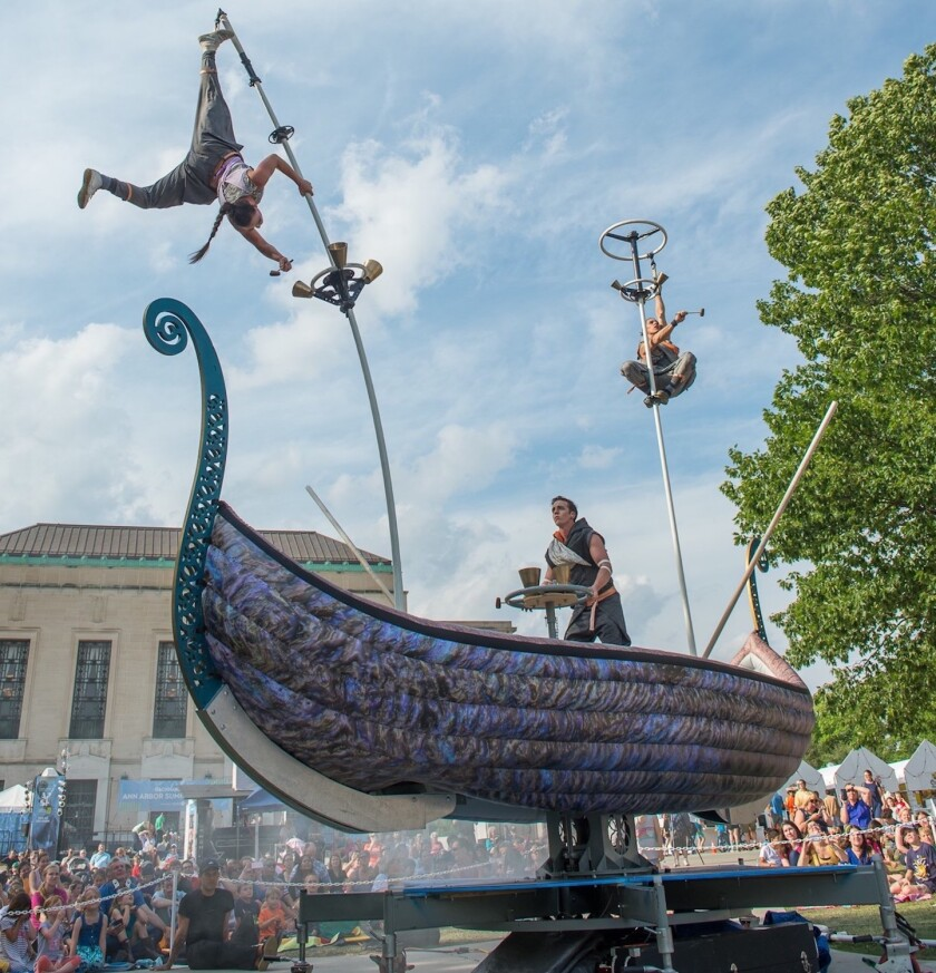 Australia's Strange Fruit will perform 'Tall Tales of the High Seas' on 16-foot sway-poles.