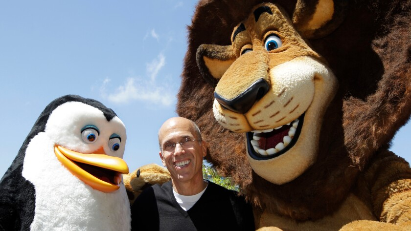 A DreamWorks Animation investor has sued CEO Jeffrey Katzenberg, shown in 2012, over terms of Comcast's planned acquisition of DreamWorks Animation.