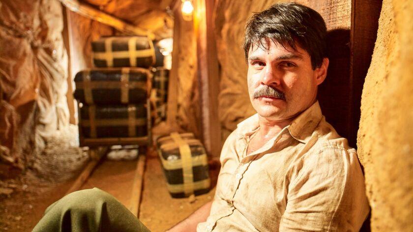 "Mexican actor Marco de la O plays drug trafficker Joaquin Guzman during the filming of ""El Chapo."""