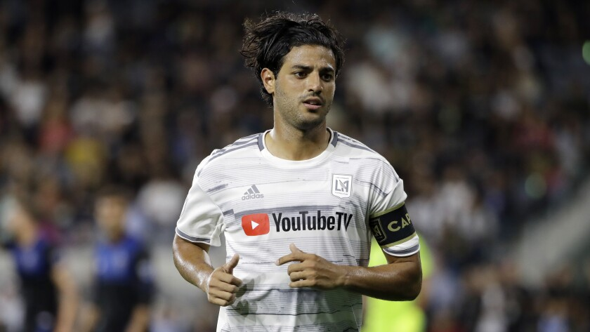 LAFC star Carlos Vela in action against the San Jose Earthquakes in August 2019.