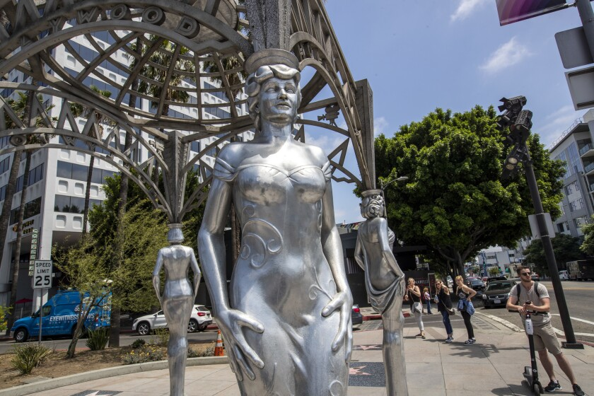 HOLLYWOOD, CALIF. -- TUESDAY, JUNE 18, 2019: Authorities are investigating the theft of a statue of