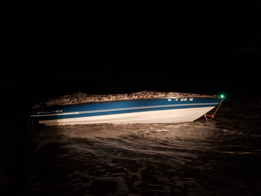 Eight Mexican nationals were arrested on suspicion of entering the country illegally after a boat came ashore in Imperial Beach early Thursday.