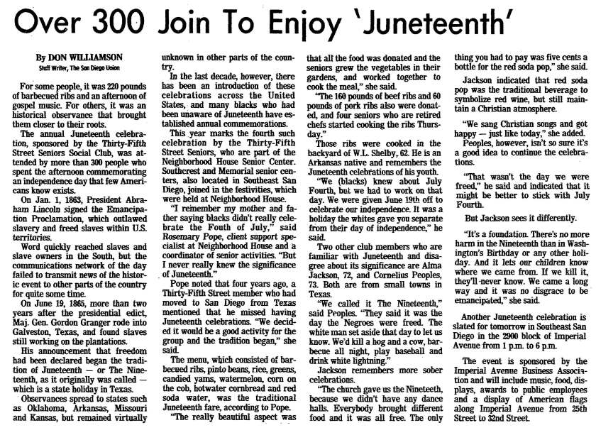 1983 Juneteenth celebration