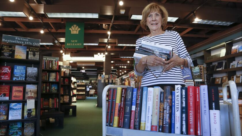 At the Bay Books store in Coronado, Barbara Chambers as been managing the book store for the past 27