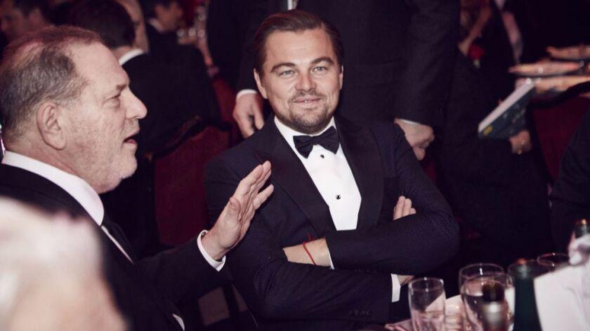 Harvey Weinstein and Leonardo DiCaprio