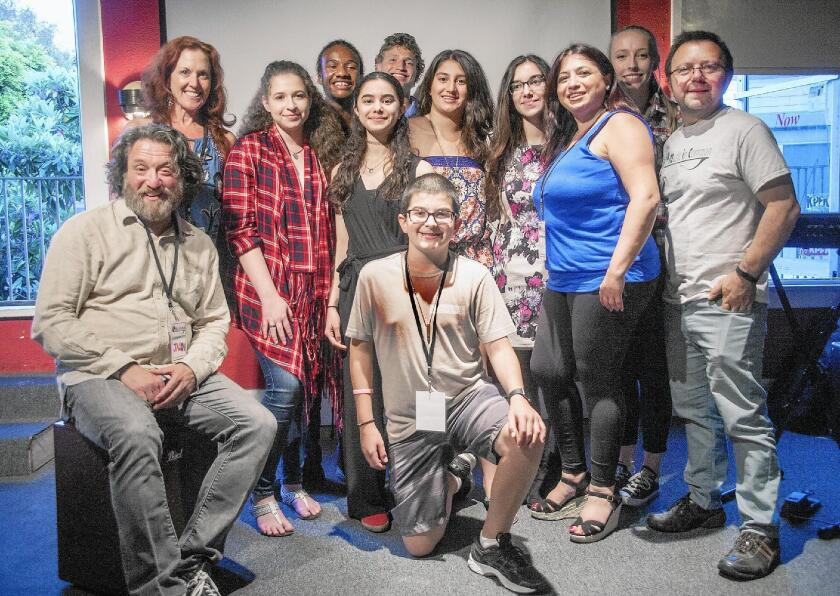 "The Complete Music in Common cast: Jason Feddy, Alisa Eisenberg, Valerie Klein, Arthur ""Trey"" Carlisle, Avi Spitzer-Tilchin, Sally Sayed, Ethan Wayne (kneeling), Amani Jammoul, Sarah Sayed, Ann Scoble, Amani Labban Kabbara, Todd Mack."