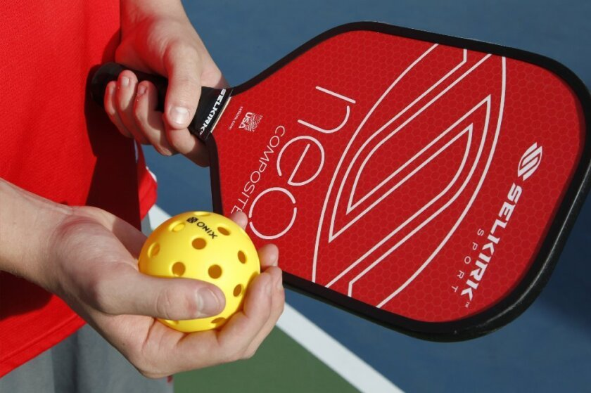 Pickleball and paddle at the Youth Pickleball Tournament at St. Michael's by the Sea on Tuesday in Carlsbad,