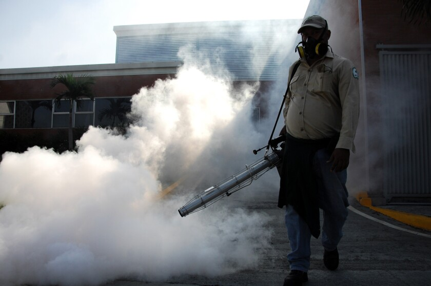Fumigation against mosquitoes in Panama