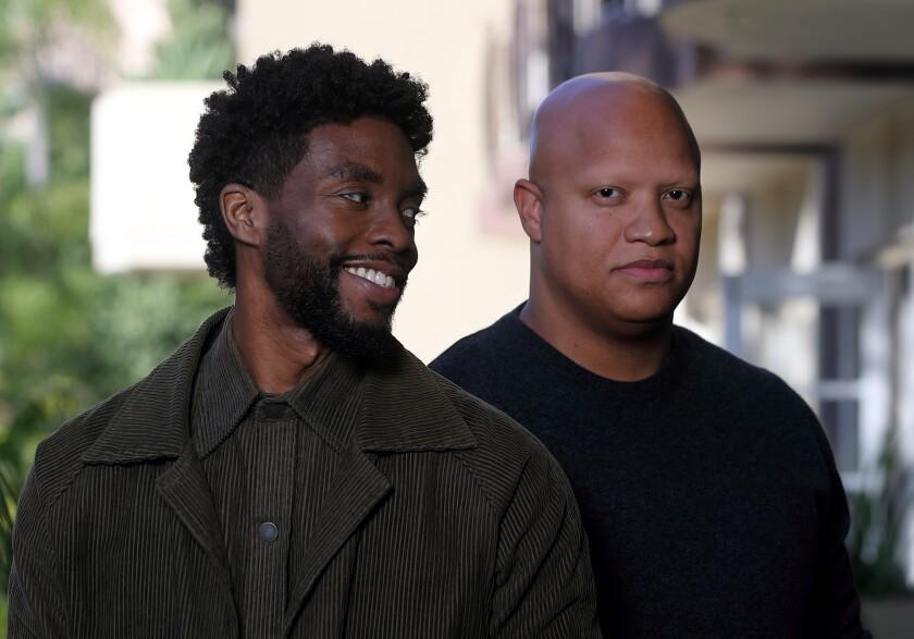Chadwick Boseman and Logan Coles.