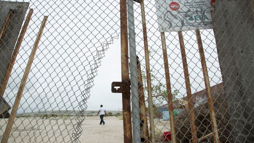 A homeless encampment has taken over the former Halaco Engineering Co. property, now a Superfund si