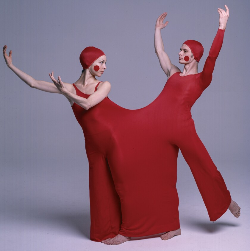 Duotard ensemble for the Lewitsky Dance Company production of ìInscape,î 1976. A look at designer