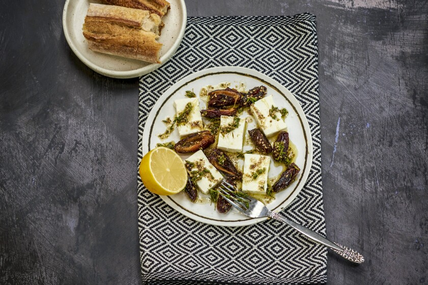 BOYLE HEIGHTS SEPT. 28, 2021: Sauteed Dates with Feta.