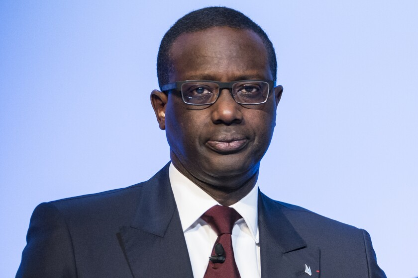 The resignation of Credit Suisse CEO Tidjane Thiam will take effect on Feb. 14, after the presentation of the bank's fourth-quarter results.